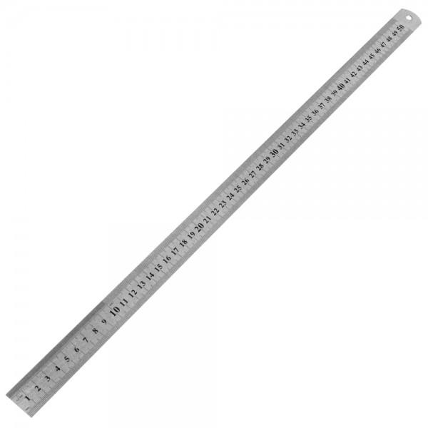Metalllineal 50,5 cm (zweiseitig cm) Werkstattlineal Lineal Stahlmaßstab