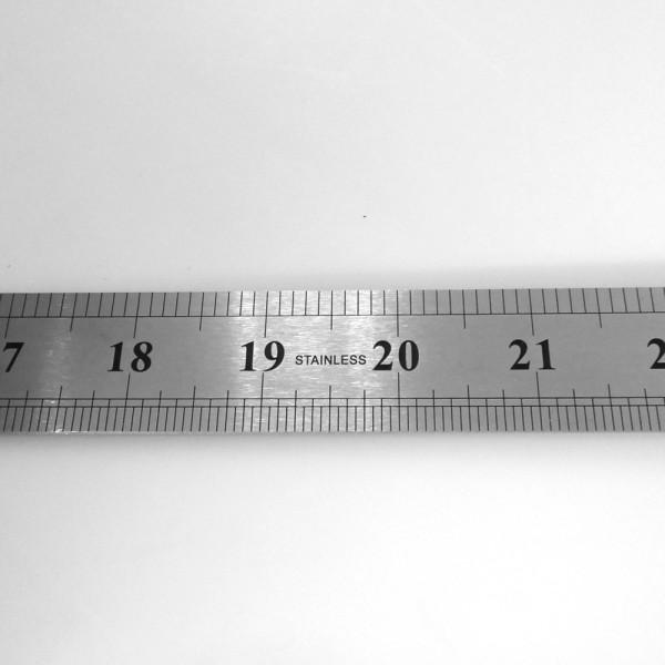 Werkstattlineal (doppeseitig 305 mm / 12 inch) Lineal Stahlmaßstab cm zoll inch
